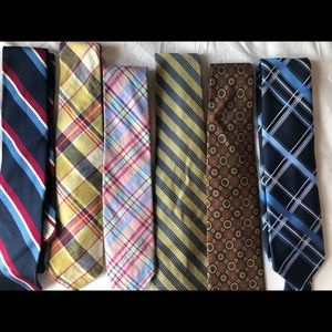 6 Men's Ties (Brooks Brothers & Givenchy)